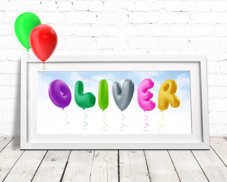 Personalised Gifts Ideas Balloon Alphabet Childrens Name Art