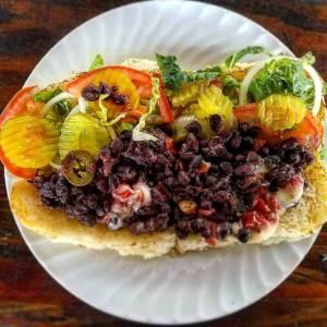 Black Bean Sandwich Gino's Deli