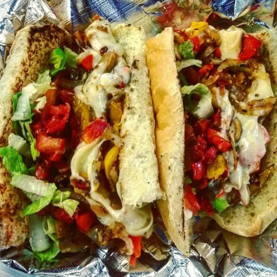 Roasted Bell Pepper Bruschetta Sandwich