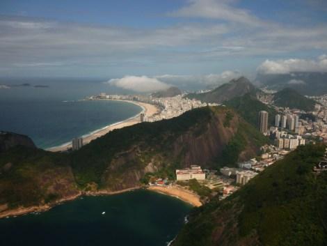 Praia Vermelha et Copacabana vues du Pain de Sucre