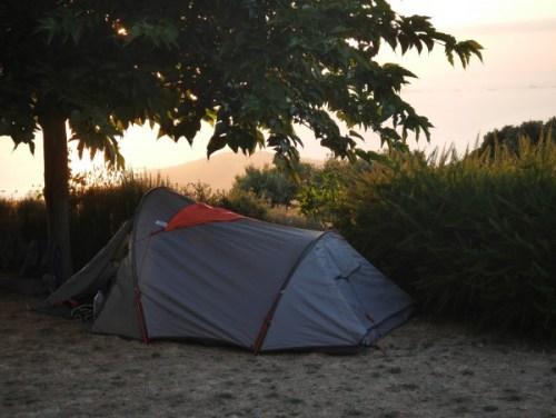 Notre tente montée