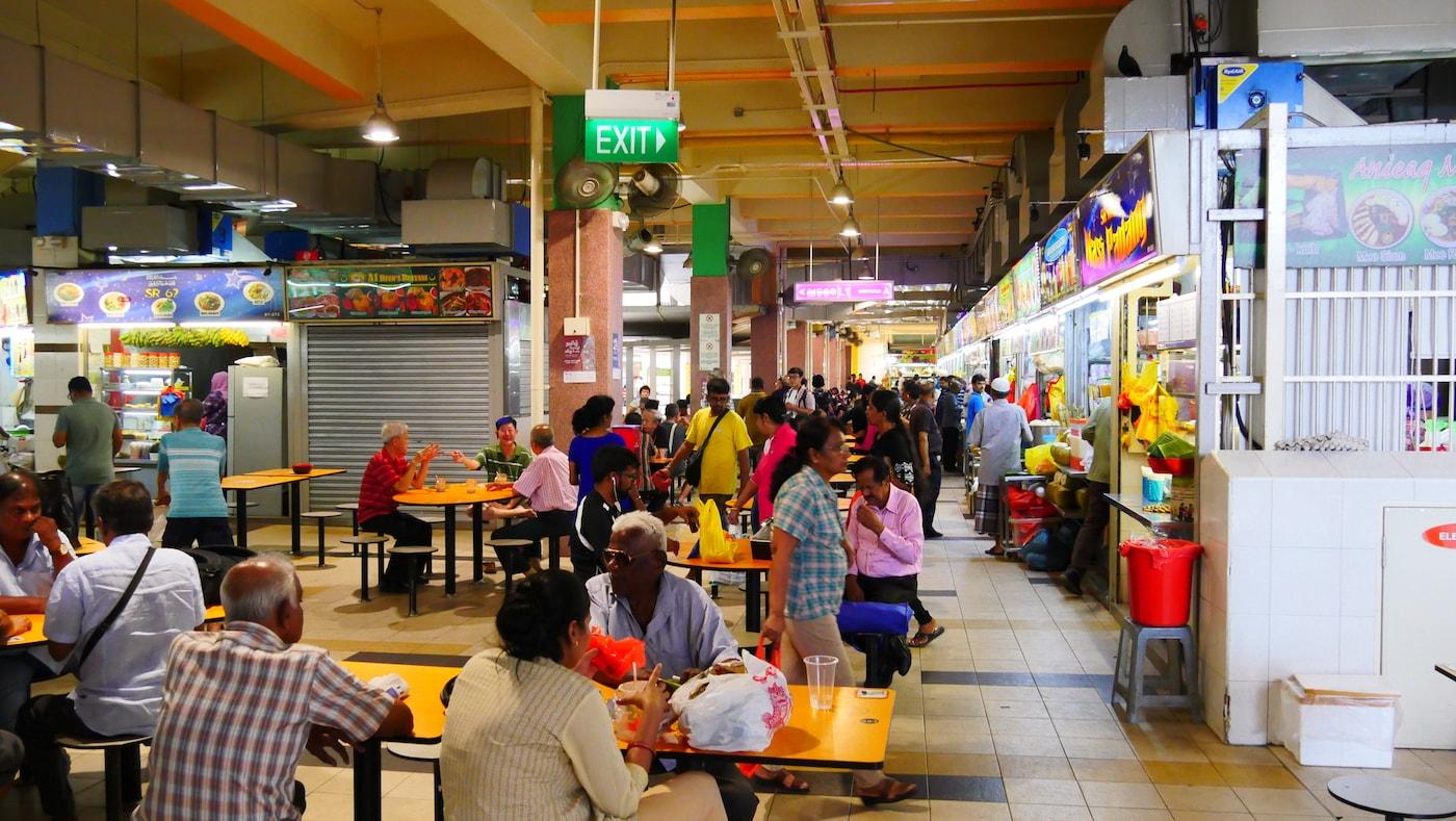 Food court à Little india - Singapour (avril 2018)
