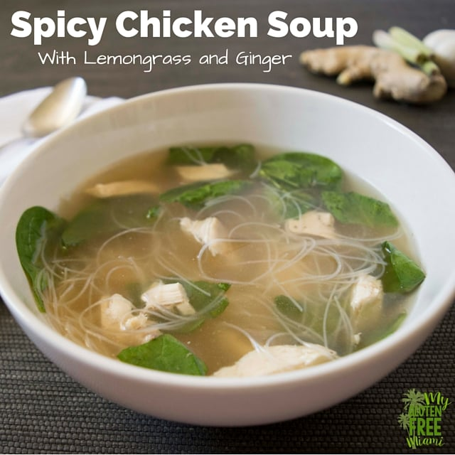 Spicy Chicken Soup with Lemongrass and Ginger