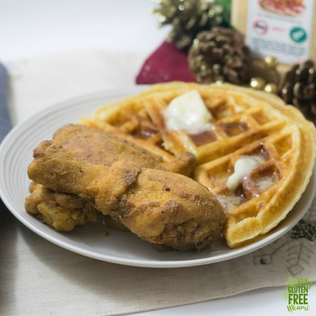 Gluten Free Fried Chicken and Waffles