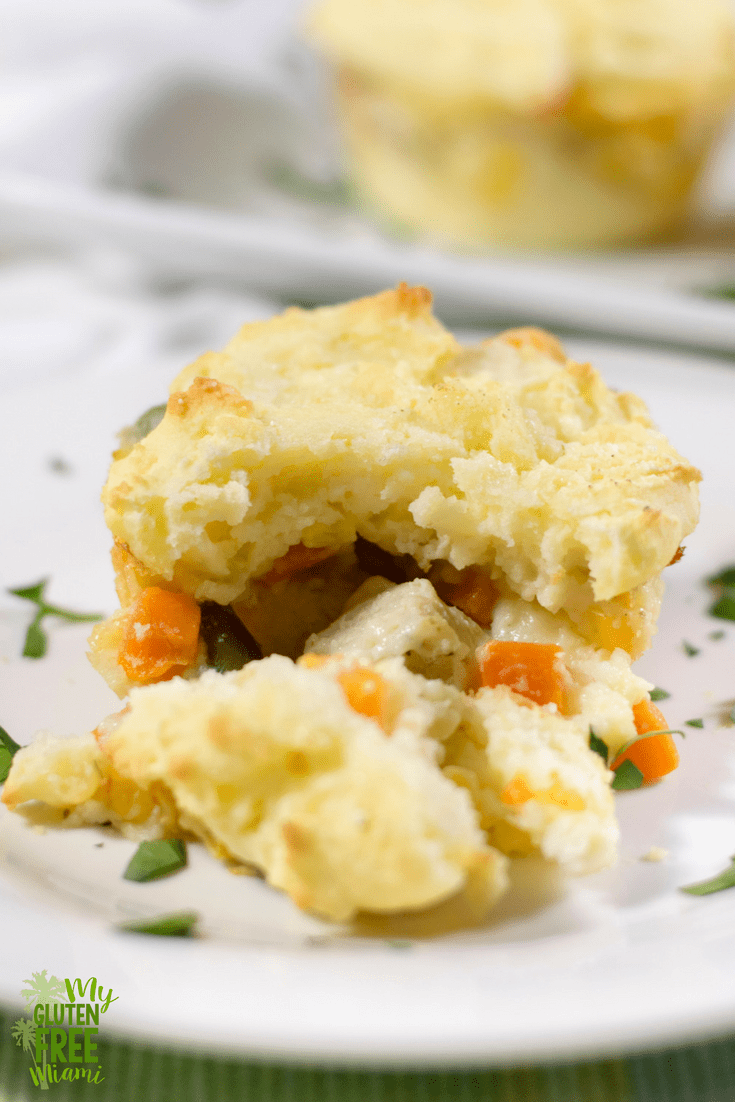 Easy Gluten Free Chicken Pot Pie Muffins
