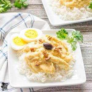 Aji de Gallina, Peruvian Spicy, Creamy Chicken Stew (Gluten Free)