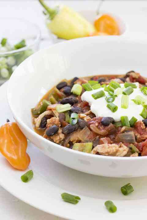 Turkey Chili in a bowl