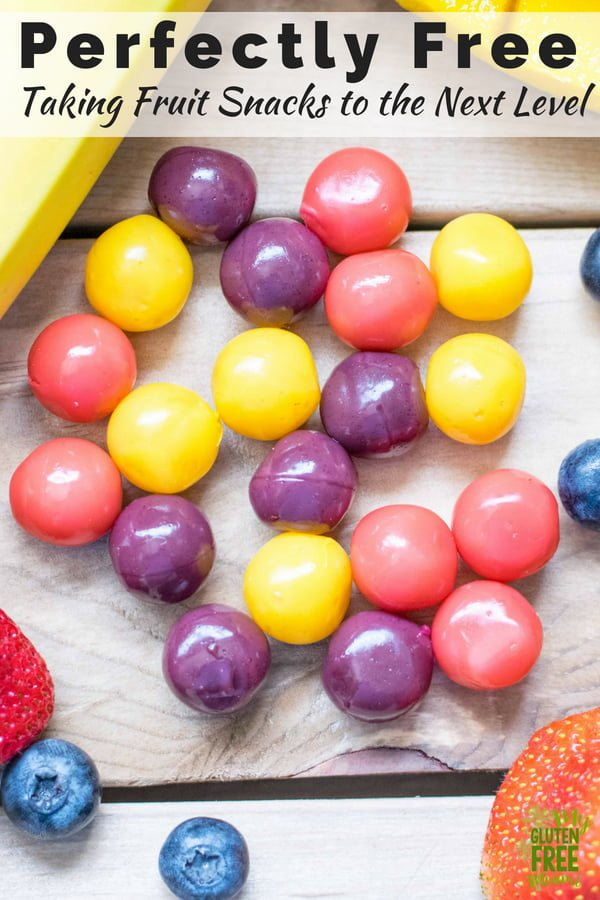 Perfectlyfreehas done it again- changing the market with a new take on fruit snacks. Fresh, made with real fruit and irresistible! Pureed fruit, covered in a grape-like skin is the perfect fruit bite!