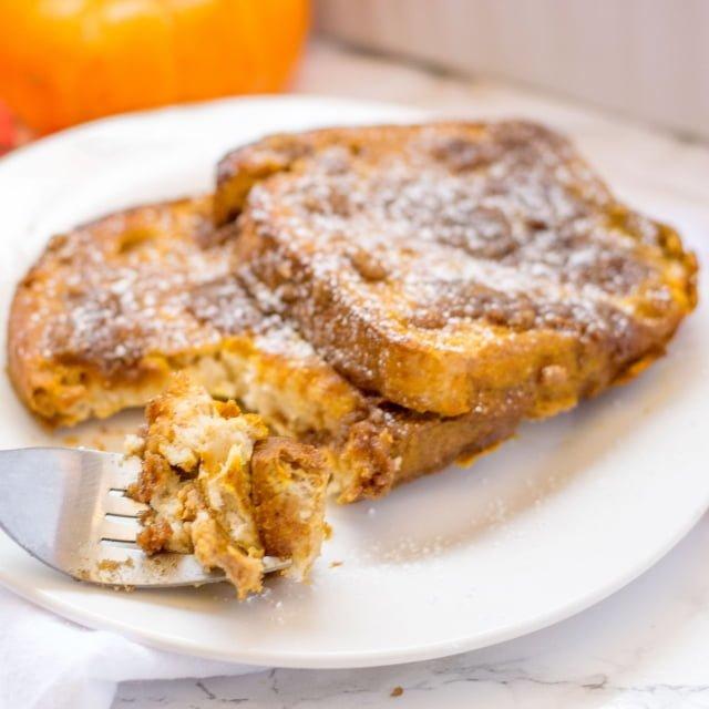 Bite of Gluten Free Pumpkin Spice French Toast Casserole