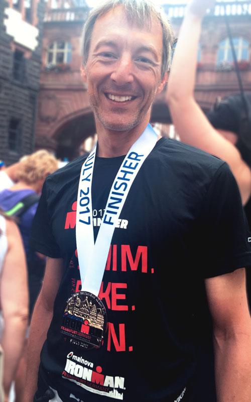 Andreas nach dem Ironman