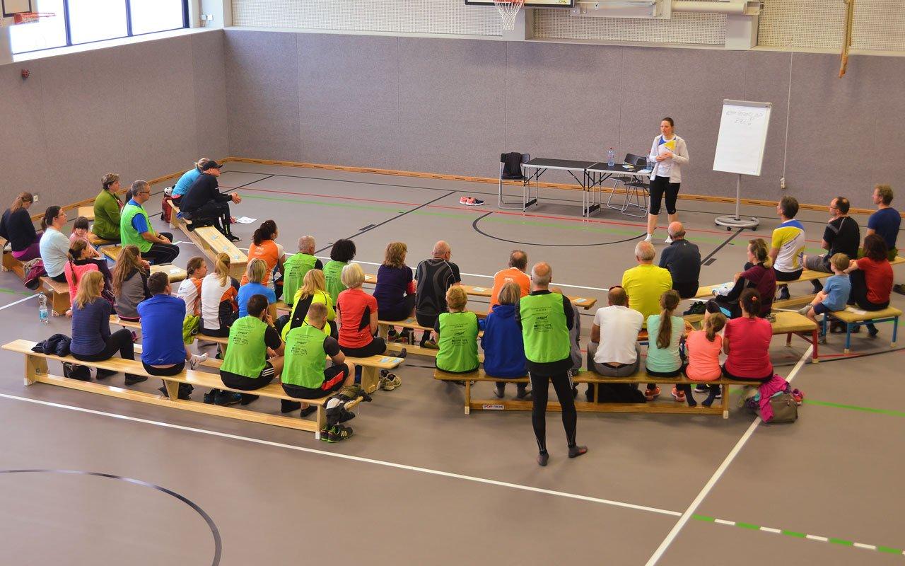 Seminar Sporthalle, Foto: F. Kramer