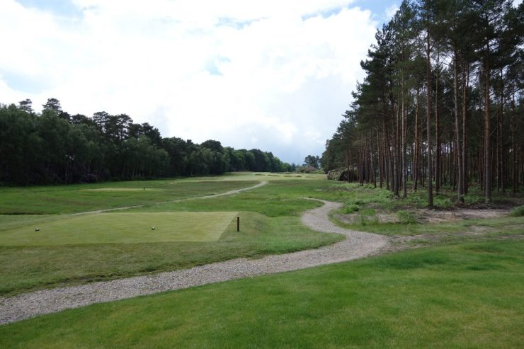 Hole 7, Par 4, 359m at Swinley Forest Golf Club