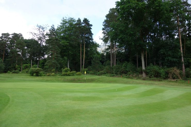 Green on 2nd hole at St George's Hill