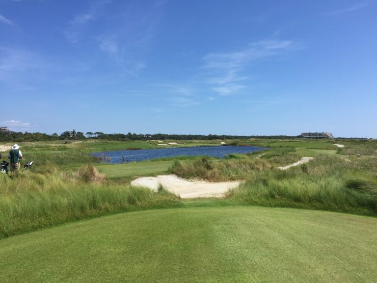 Hole 17, Par 3, 191 yards at Kiawah Island Ocean course