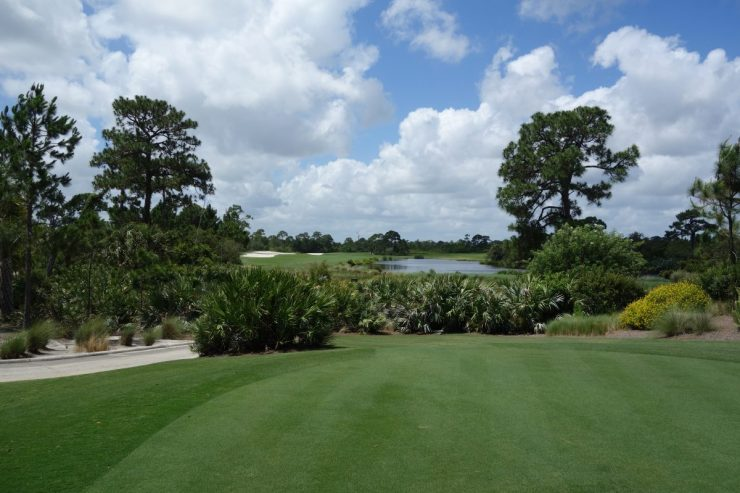 Tee shot on 14th at Floridan National Golf Club