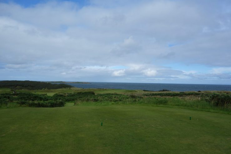 5th hole tee at Royal Portrush Dunluce links