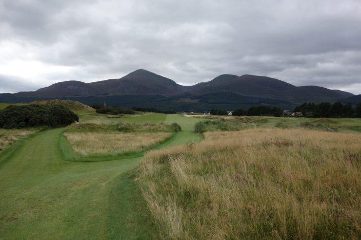 18th tee shot at Royal County Down