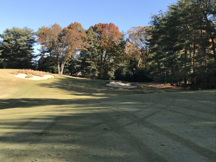 approach to 5th hole