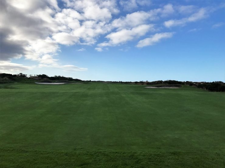 5th hole at fan court links