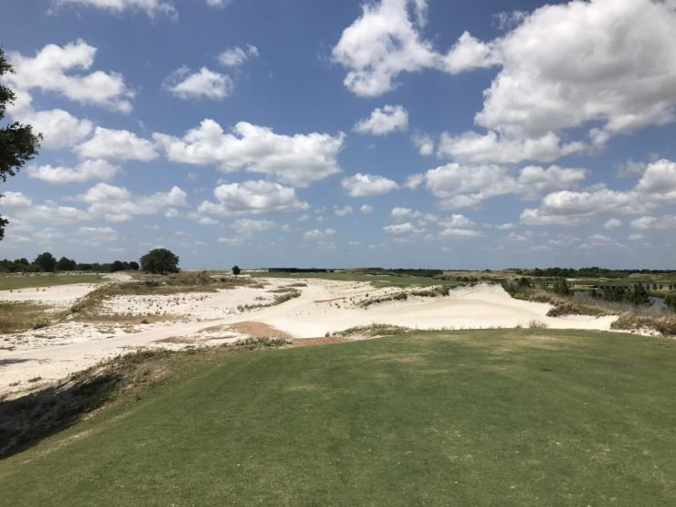18th hole at streamsong black