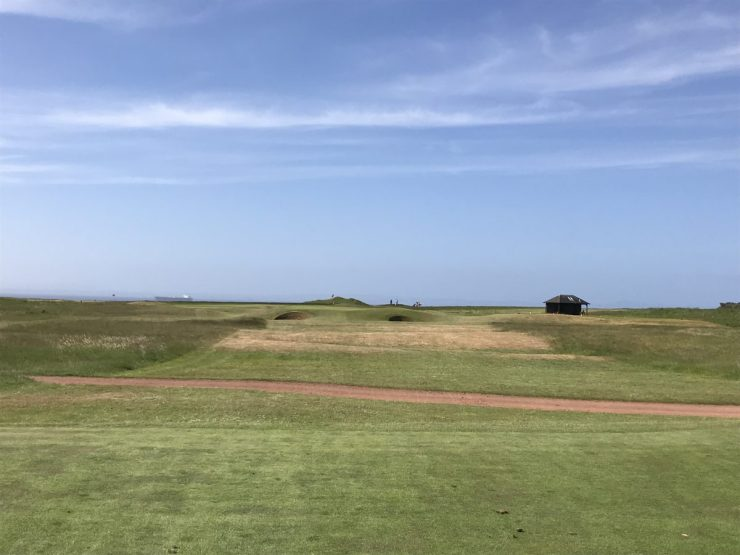 4th hole at Gullane