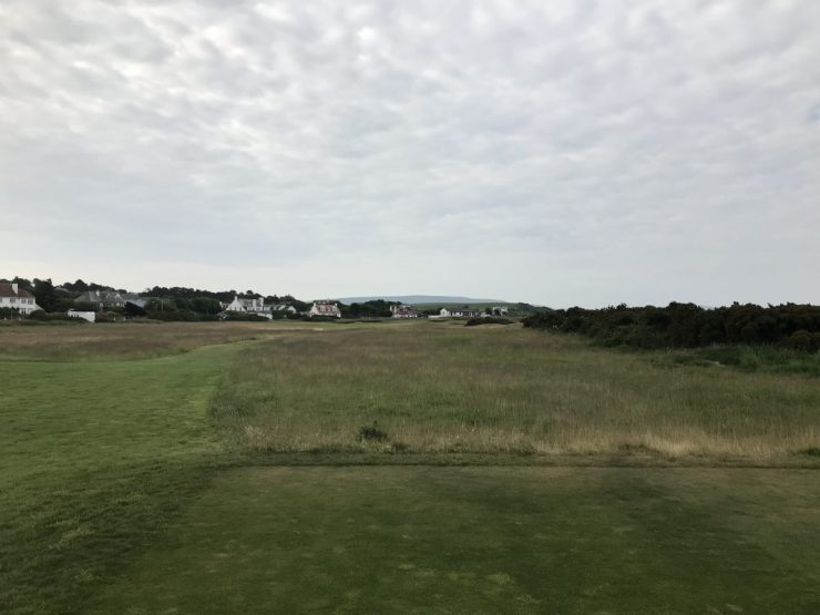 Teeshot on hole 1 Turnberry Ailsa