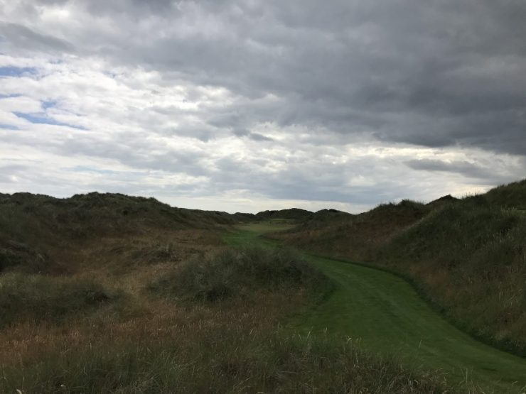 First hole Trump International Scotland