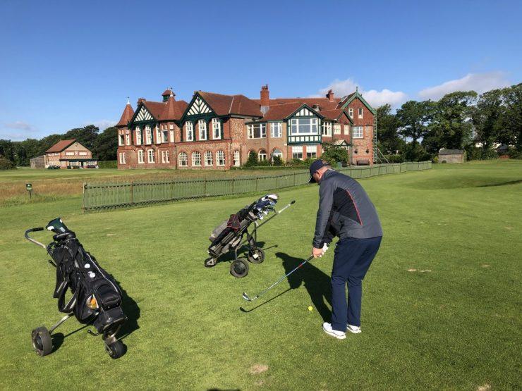 Practice green at Royal Lytham