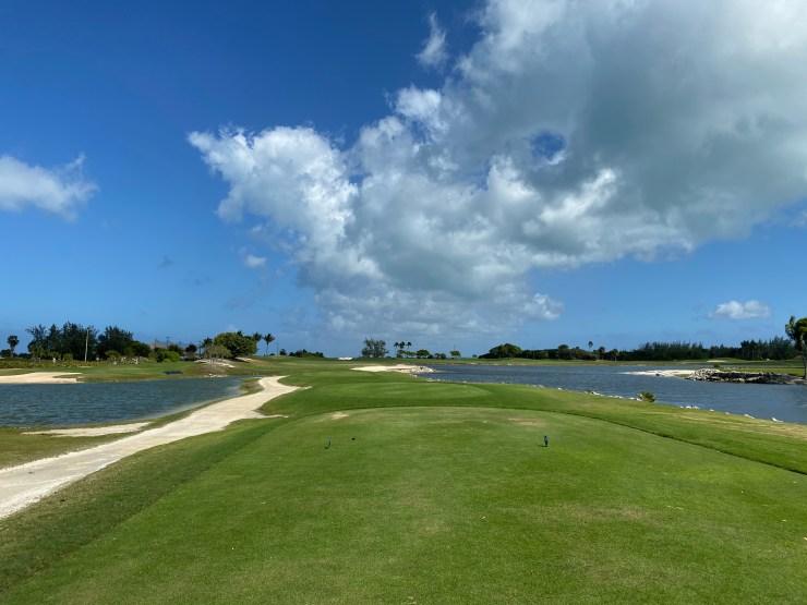 18th hole at North sound golf club