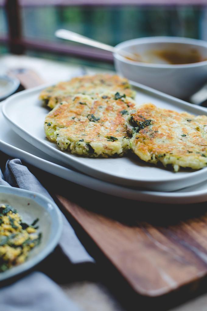 Japanese inspired vegetable potato cakes 7