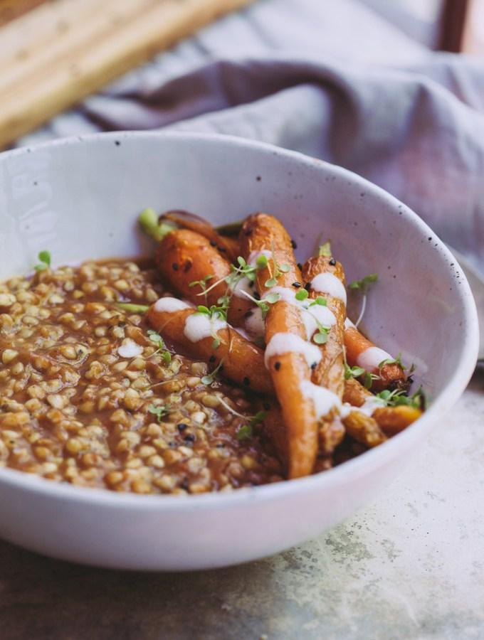 smoky eggplant buckwheat bowl 1