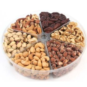 Oh! Nuts Holiday Roasted Nut Gift Tray 6-Section