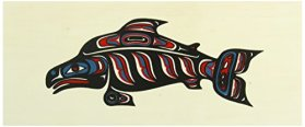 Alaska Smokehouse Smoked Salmon Fillet in Wood Gift Box 16 oz., Assorted Designs