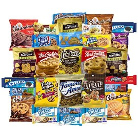Sweet Cookies, Crackers & Snacks Variety Pack Bundle Includes Grandmas Cookies, Oreos, Chips Ahoy, Rice Krispies, Back To Nature & More Includes Recipes By Custom Varietea Bulk Sampler 30 Packs