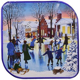 Kelsen Original Danish Butter Cookies Gift Tin, 5 Pounds (2.27 Kg) (Winter Scene Print Varies)