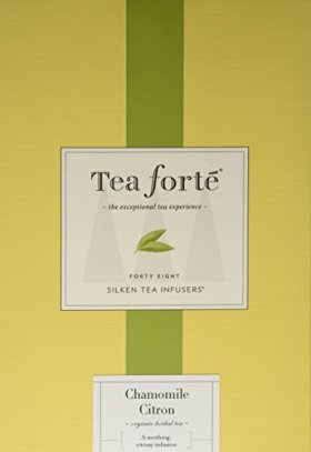 Tea Forte Event Box – 48 Silken Pyramid Infusers – Chamomile Citron