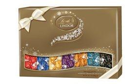 Lindt LINDOR Assorted Chocolate Deluxe Sampler Gift Box, 20.7oz