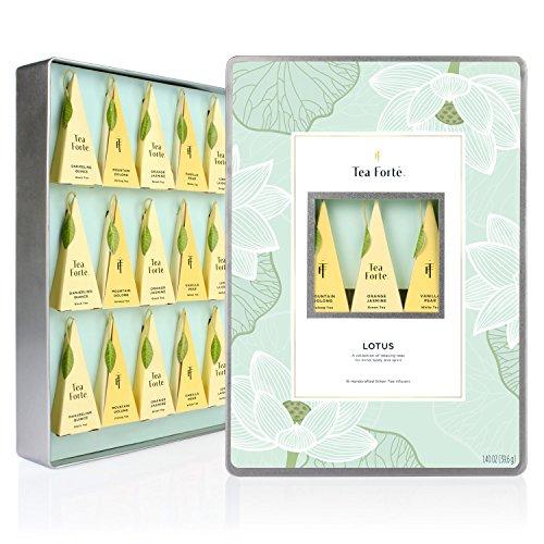 NEW Tea Forte Large Tin Lotus Collection – Fifteen Silken Pyramid Infuser