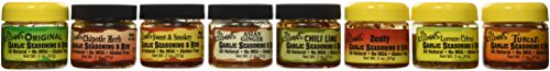 Ellbee's Garlic Seasoning and Rub Variety Pack All Natural Gluten Free No MSG – Original, Tuscan, Lemon Citrus, Zesty, Sweet & Smokey, Chipotle Herb, Asian Ginger, Chili Lime