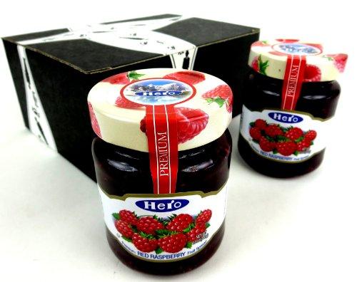 Hero Premium Raspberry Fruit Spread, 12 oz Jars in a Gift Box (Pack of 2)