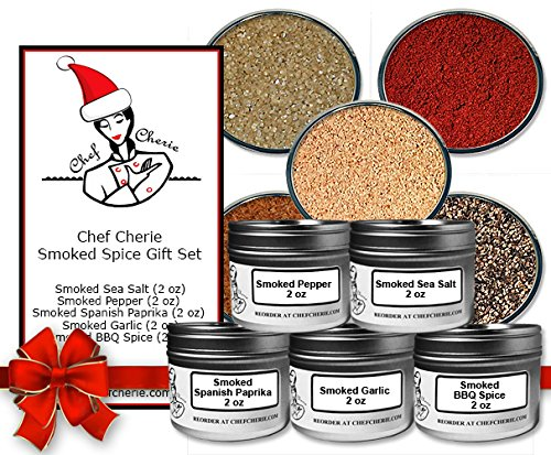 Chef Cherie's Smoked Spice Gift Set – Contains 5 2 oz. Tins