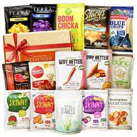Vegan Snacks Healthy Gift Box Premium Care Package School Lunch Bundle 15 ct