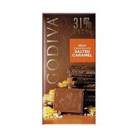 Godiva Milk Chocolate Bar, Salted Caramel, 3.5 Ounces (Pack of 5)