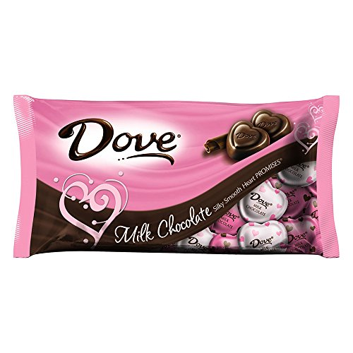 DOVE PROMISES Milk Chocolate Valentine Heart Candy 8.87-Ounce Bag (Pack of 4)