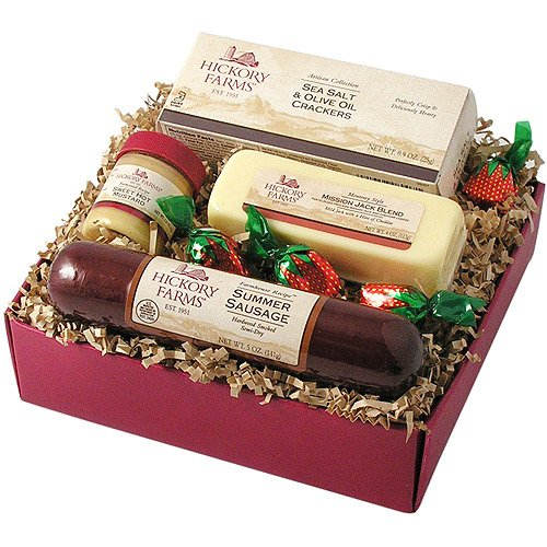 Hickory Farms Thanksgiving 4-Piece Farmhouse Sausage & Cheese Sampler Gift Pack