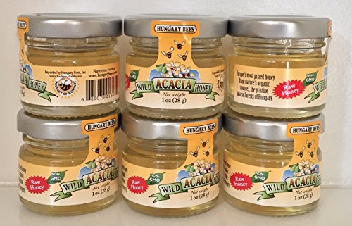 Hungary Bees Wild Acacia Honey 1oz (6 Pack)