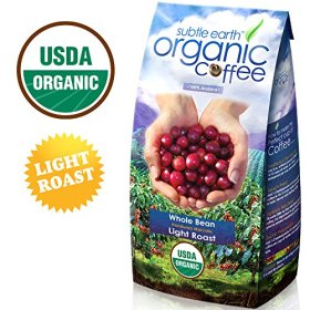 2LB Cafe Don Pablo Subtle Earth Organic Gourmet Coffee – Light Roast – Whole Bean, 2 Pound