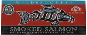 Alaska Smokehouse Smoked Sockeye Fillet in Gift Box, 16-Ounce