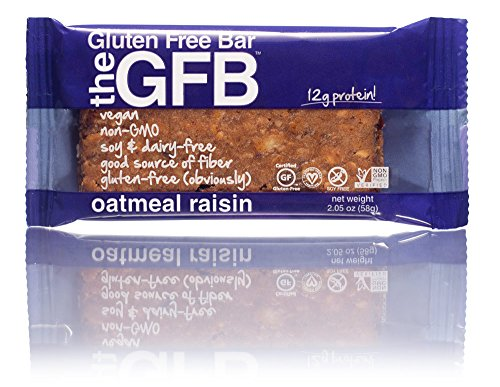 The GFB: Gluten Free Bar, Oatmeal Raisin, 2.05 Ounce (Pack of 12)