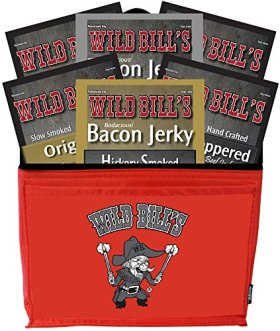 Wild Bill's 6-Piece Jerky Sampler 6-Pack Gift Cooler (filled with 6 assorted 3oz jerky packs)